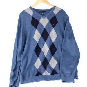 Tommy Hilfiger Men's Sweater XL Plaid Design h24
